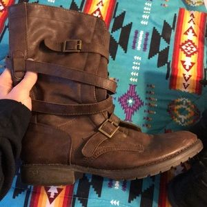 Madden Girl Shoes - Two pairs of madden girl floppy boots!